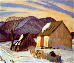 Jackson-group of Seven- The Sleigh Ride. Jackson was at the McMichael Gallery in Kleinberg when I visited there. I spoke to him briefly as he sat in a chair by the door. Tom Thomson, Emily Carr, Group Of Seven Artists, Group Of Seven Paintings, Canadian Painters, Canadian Artists, Jackson, Eagle Art, Of Montreal