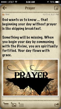 Importance of prayer.