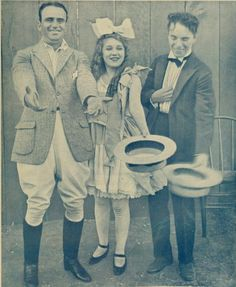 "Douglas Fairbanks, Mary Pickford, Charlie Chaplin, ""Classic silent film stars"". This is just a fun picture"