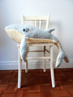 Items similar to Whale Stuffed Animal* Big Handmade Plush Toy* Cotton jersey and faux fur on Etsy – Monkey Stuffed Animal Doll Toys, Pet Toys, Baby Toys, Sewing Stuffed Animals, Small Pillows, Animal Crafts, Crochet Animals, Whale, Decoration