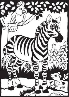 Zany Zoo Stained Glass Jr Coloring Book Dover Publications BooksZoo Animal PagesKids