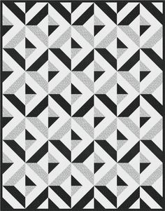 Diamond Day quilt, Monochrome colorstory. Made with Spot On. Designed by Robert Kaufman Fabrics. Pattern is available for FREE through Robert Kaufman Fabrics.