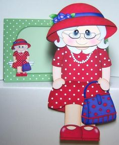 Card Gallery - 3D On the Shelf Card Kit - Gossip Galz - Red Hat Rita
