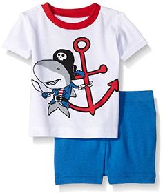 The Children's Place Baby and Toddler Boys' 2 Piece Pajama Short Set -- You can get more details at