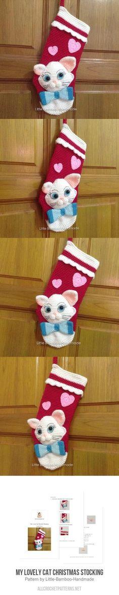 My Lovely Cat Christmas Stocking crochet pattern