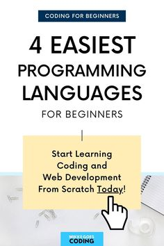 So you want to learn to code but you're not sure which programming languages are best for beginners and easy to learn? In this post, you will discover four popular but easy computer coding languages that are relatively simple and quick to learn – and you will find beginner-level resources, tutorials, and online courses to start learning right away! #mikkegoes #coding #programming #webdevelopment #technology #computers #tech Computer Programming Languages, Coding Languages, Computer Coding, Learn Programming, Best Computer, Computer Science, Learning Web, Learning Resources, Coding For Beginners