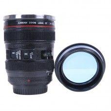Canon objektív formájú termoszos bögre, 4 dl űrtartalmú lencsés tetővel. Remek fotós vagy geek ajándék! Lente Canon, Sweet Style, Binoculars, Gift Ideas, Mugs, Random Things, Lens