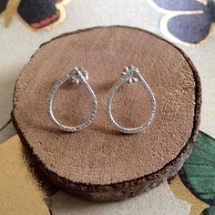 These silver studs are one of my absolute favorites! I made these earrings on a rainy day; instead of letting the dewey drops depress me, they