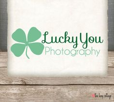 OOAK Premade Logo and Watermark Design  Lucky by TheTinyCottage, $15.00