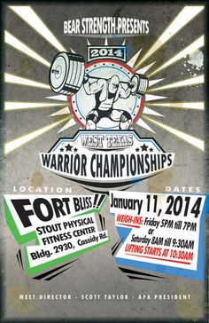 Initial Poster Design Client: Lisa Elliot - West Coast Powerlifting Meet
