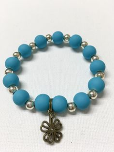 Brilliant Blue and Silver Beaded Bracelet