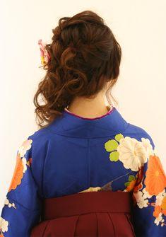 卒業式の着付けとヘアセット   三宮駅周辺の美容室 Raffine三宮のヘアスタイル   Rasysa(らしさ)