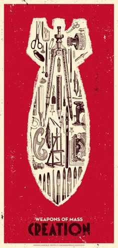 Weapons of Mass Creation, a beautiful limited edition screen print by Angryblue.