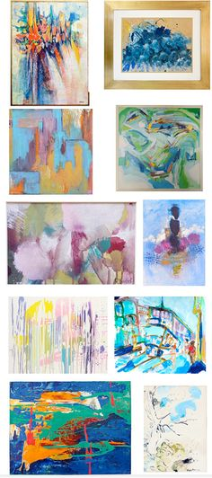 Love this - One of a kind abstracts from $149, lots of vintage ones. Ends at sellout or Wednesday