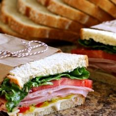 Simple and delicious Italian Ham & Veggie Sandwiches made at home! The whole family will love them! Veggie Sandwich, Sandwich Recipes, Snack Recipes, Healthy Vegan Snacks, Healthy Recipes, Appetizer Sandwiches, Cucumber Sandwiches, Appetizers, Italian Ham
