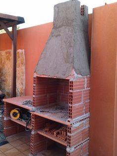 Como construir uma churrasqueira simples escadas - Como construir una barbacoa de obra ...