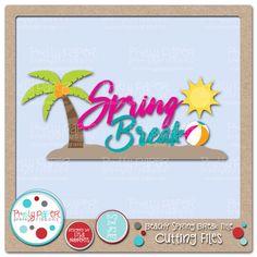 Beachy Spring Break Title Cutting Files