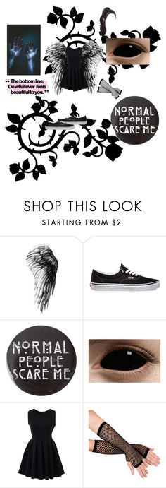 """""""fallen angel"""" by emolover19 ❤ liked on Polyvore featuring Vans and Chicnova Fashion"""