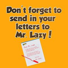 Great job on sending letters in to Mr. Lazy about the importance of having a healthy #Thanksgiving dinner! There's still time to send yours in if you haven't already! #KeepItMoving