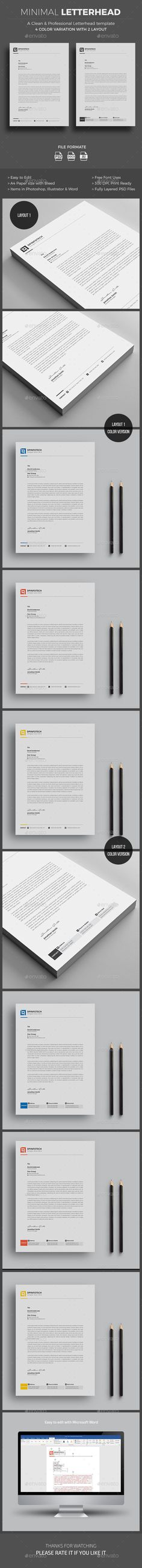 #Letterhead - Stationery Print Templates Download here:    https://graphicriver.net/item/letterhead/20324093?ref=alena994