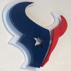 Houston Texans 3 Dimensional Logo by GotWoodWoodcrafters on Etsy Texas Texans, Houston Texans Football, Dallas Cowboys, Jj Watt, Texas Logo, Bulls On Parade, Websites Like Etsy, Space City, H Town