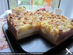Apfel-Vanillecreme-Kuchen mit Amarettini-Streuseln (Rezept mit Bild) | Chefkoch.de