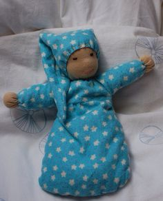 Soft natural cuddle doll - first doll for toddler or baby - Waldorf doll - Steiner doll