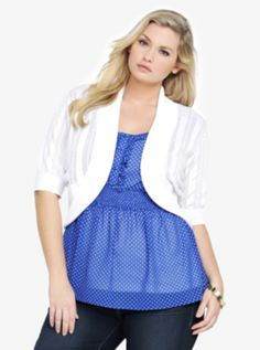 Shawl Collar Shrug - Torrid