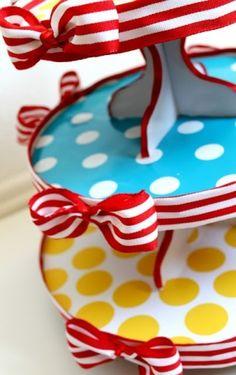 Dr. Seuss cardboard cupcake stand by angela
