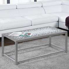 Monarch Specialties Inc. Coffee Table Finish: Grey / Silver