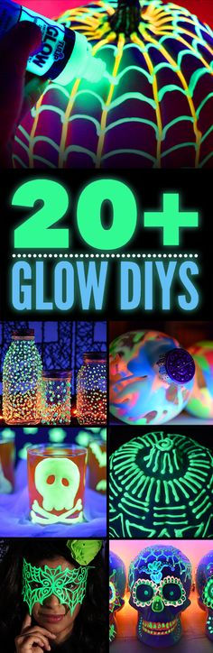 Check out the ultimate list of glow-in-the-dark projects featuring Tulip Dimensional Paint in glow! Shines bright in the dark and REALLY bright under blacklight!
