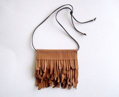 leather necklace earth colors necklace fringe by stellachili