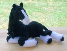 Angus is Tired by *Pickleweasel360 on deviantART - crochet horse