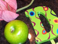 OOAK Whimsical Hand Painted Letter D Wall Coat Hanger