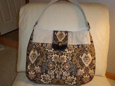 handmade handbag zippered pocket hobo style by KarensCreations16, $45.00