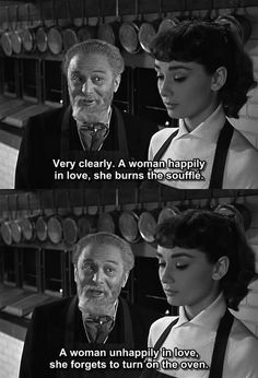 """Audrey Hepburn in director Billy Wilder's """"Sabrina"""", I believe. It might possibly be from Wilder's """"Love In The Afternoon"""", but I think """"Sabrina"""". Old Movies, Great Movies, Indie Movies, Film Quotes, Funny Quotes, Old Movie Quotes, Sabrina 1954, Citations Film, Kino Film"""