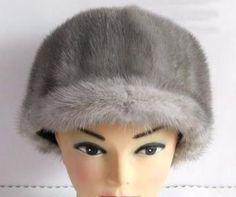 Mink hat fur hat Women mink hair cap knight cap winter millinery