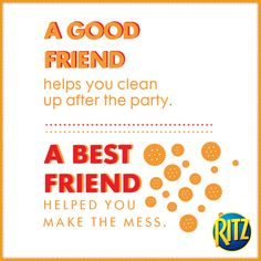 You know we all have that one friend! Fun Quotes, Awesome Quotes, Best Quotes, Ritz Crackers, Cheer You Up, That One Friend, Some Words, Words Of Encouragement, Panda