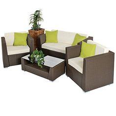 TecTake Luxury Rattan Aluminium Garden Furniture Sofa Set Outdoor Wicker with Glass Table brown + 4 Extra Pillows TecTake http://www.amazon.co.uk/dp/B00BIUXYK4/ref=cm_sw_r_pi_dp_t.Y8ub06S4384