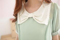This bow collar would be an easy and charming add.