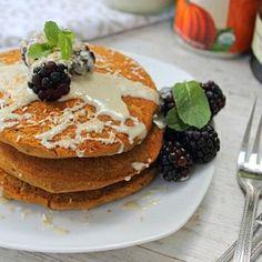 Gluten free vegan light fluffy gingerbread pancakes!