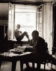 I.A.L. Diamond and Billy Wilder at work.