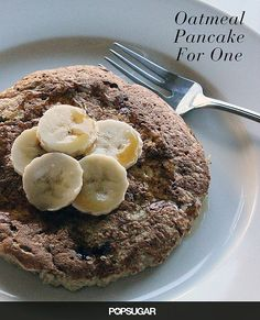 Enjoy a Low-Calorie, High-Fiber Oatmeal Pancake