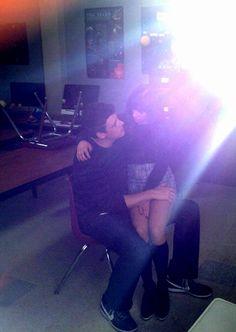 "Cory Monteith and Lea Michele filming their last scene of Season 3 of Glee (""Goodbye"") #finchel #monchele"