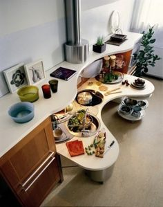 Cool, alternative kitchen workspace. Universal Design Design Ideas, Pictures, Remodel, and Decor - page 3