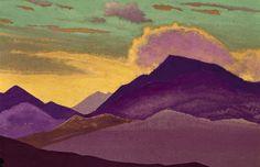 Lahaul, 1931 by Nicholas Roerich. Symbolism. landscape