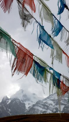 """The Tibetan word for prayer flag is Dar Cho. """"Dar"""" means to increase life, fortune, health and wealth. """"Cho"""" means all sentient beings. Prayer flags are simple devices that, coupled with the natural energy of the wind, quietly harmonize the environment, impartially increasing happiness and good fortune among all living beings."""