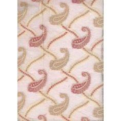 handwoven silk noil fabric w/ jacquard paisleys 44 - $9/yd!