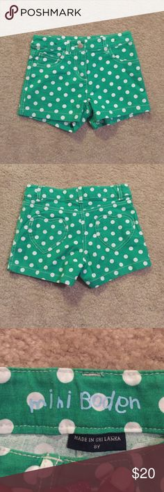 Mini Boden PolkaDot Shorts Gently used a few times. Great for the warm weather. Mini Boden Bottoms Shorts