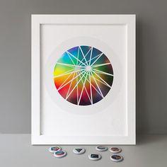 1/63 Stereohype Button Badge Motif Prints #stbbmp Design: FL@33 💥🍭🐿 https://www.stereohype.com/330-button-badge-motif-print-series #circle #geometric #illustration #home #homedecor #hahnemuehle #giclee #certified #seal #button #badge #pin #motif #artwork #affordableart #wallart #beautiful #inspirational #umbrella #shape #rainbow #circular #bipyramid #cycling #cycle #bike